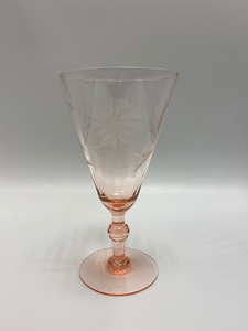 Etched Pink Glass