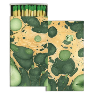 BOXED MATCHES Green Marble