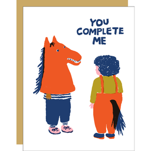 Complete Me  Greeting Card