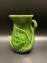 Load image into Gallery viewer, Vintage Swan Vase  Green
