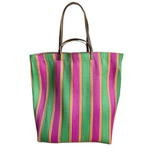 Load image into Gallery viewer, Large Assam Market Bag Fucsia