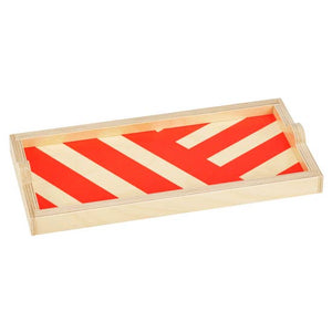 Red Stripe Mini Tray