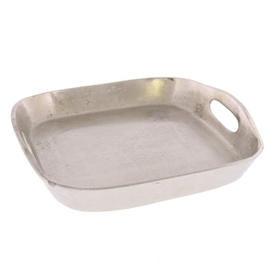 MACKENZIE SQUARE TRAY - MED - NICKEL