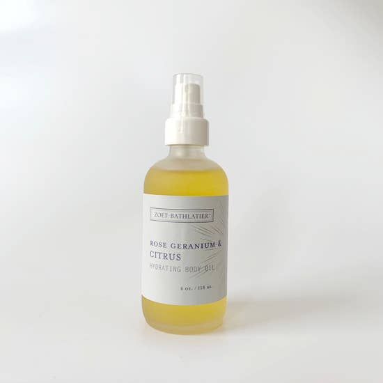 Rose Geranium and Citrus Hydrating Body Oil