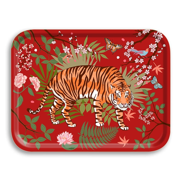 Panthera Crimson Birch Wood Tray