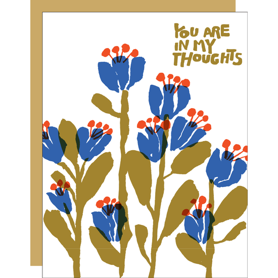 In My Thoughts Flowers  Greeting Card