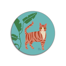 Load image into Gallery viewer, Ginger Tabby Cat Coaster
