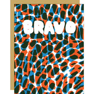 Vibrant Bravo  Greeting Card