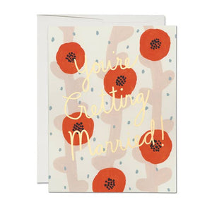 Wedding Poppies Greeting Card