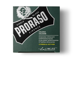PRORASO REFRESHING COLOGNE TOWELETTES: CYPRESS & VETYVER