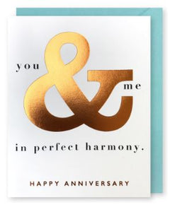 You & Me Anniversary Greeting Card
