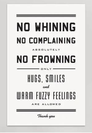 No Whining Print
