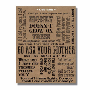 Dad-isms Father's Day card