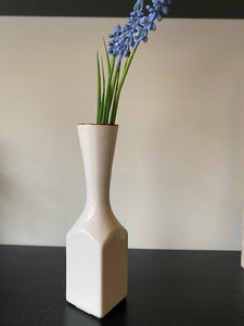 WHITE BUD VASE / GOLD TRIM