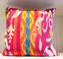Load image into Gallery viewer, Pink Ikat Tapestry Pillow