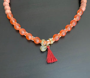 Coral Reef Necklace Necklace With Tassle