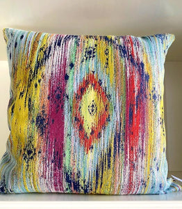 Blue & Multi Color Tapestry Pillow