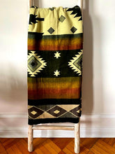 Load image into Gallery viewer, SOUTHWESTERN BLANKET  Olive / Black