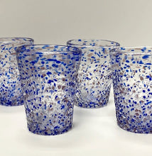Load image into Gallery viewer, Blue Pebbled Italian Glass