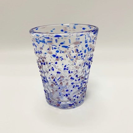 Blue Pebbled Italian Glass