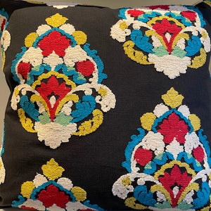Embroidered Medallion Pattern Pillow