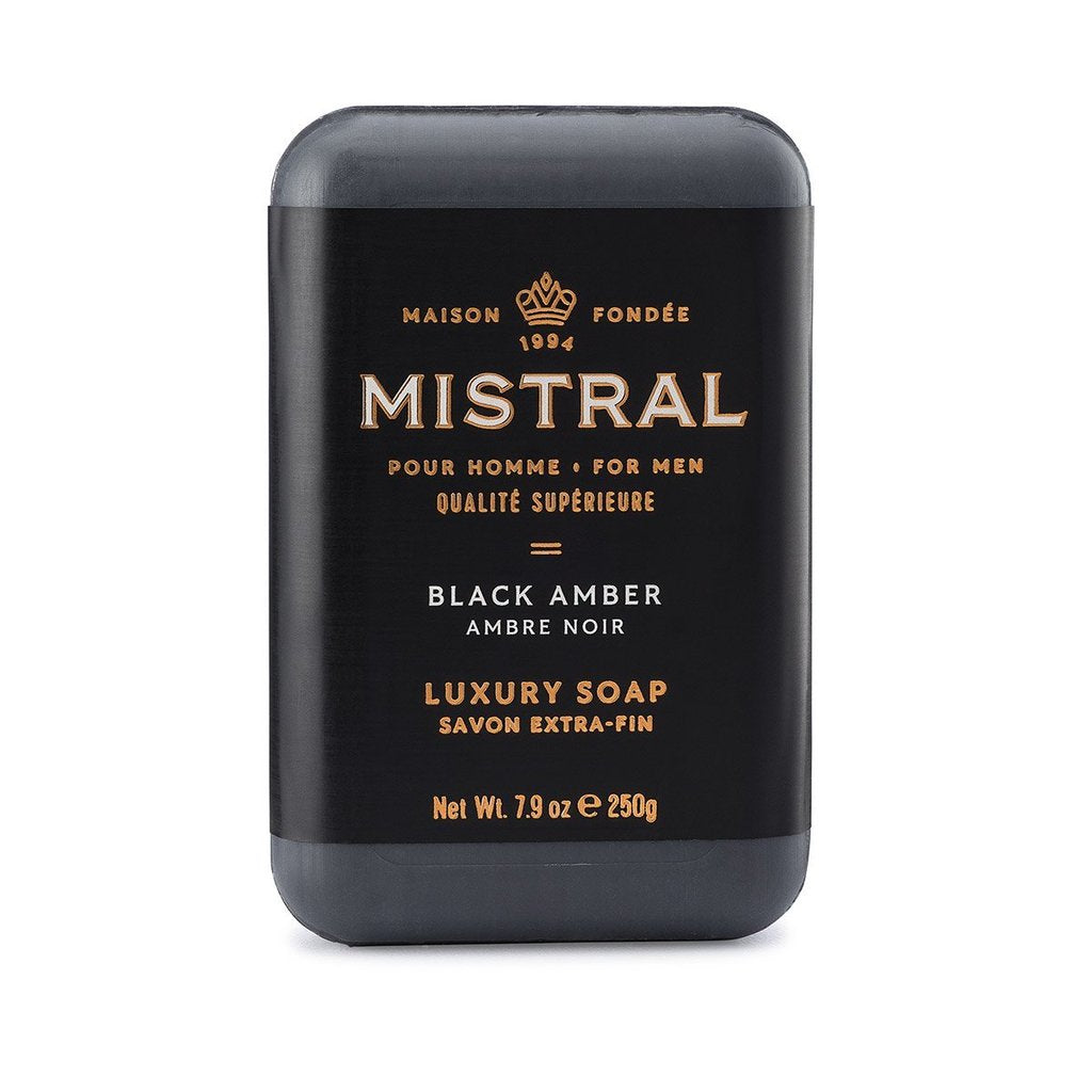 MISTRAL BAR SOAP: BLACK AMBER