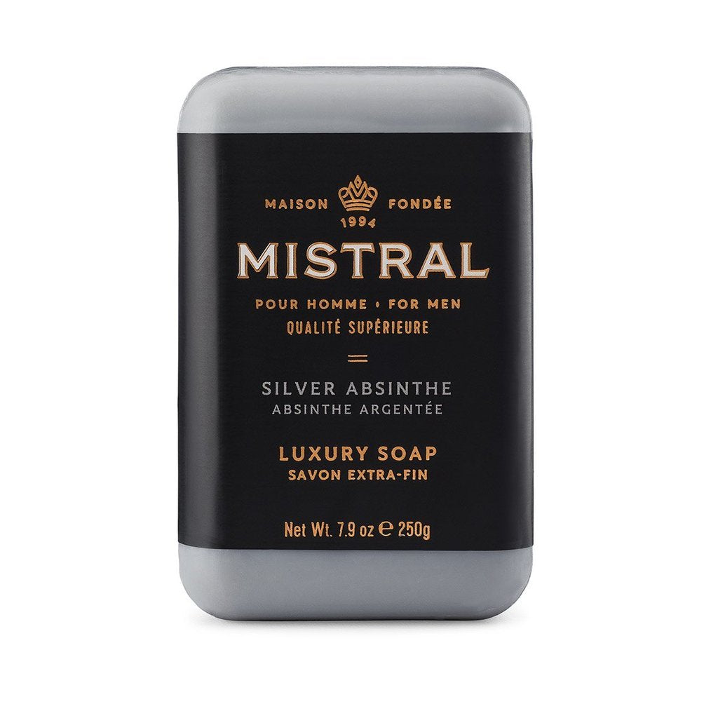 MISTRAL BAR SOAP SILVER ABSINTHE BAR