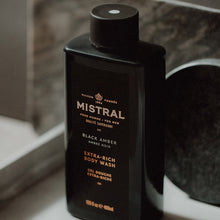 Load image into Gallery viewer, MISTRAL BLACK AMBER BODY WASH