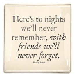 Nights with Friends Decoupage Tray