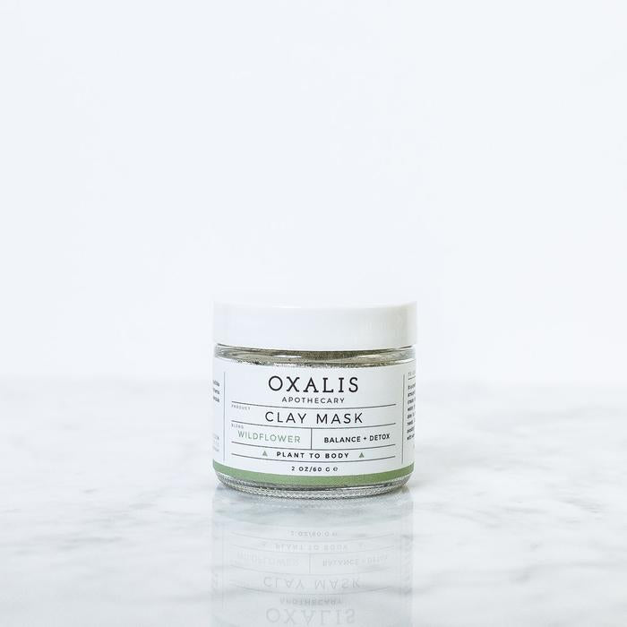 OXALIS APOTHECARY WILDFLOWER CLAY MASK | BALANCE + DETOX