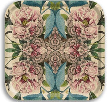 Load image into Gallery viewer, PEONIES BIRCH WOOD TRAY- SQUARE