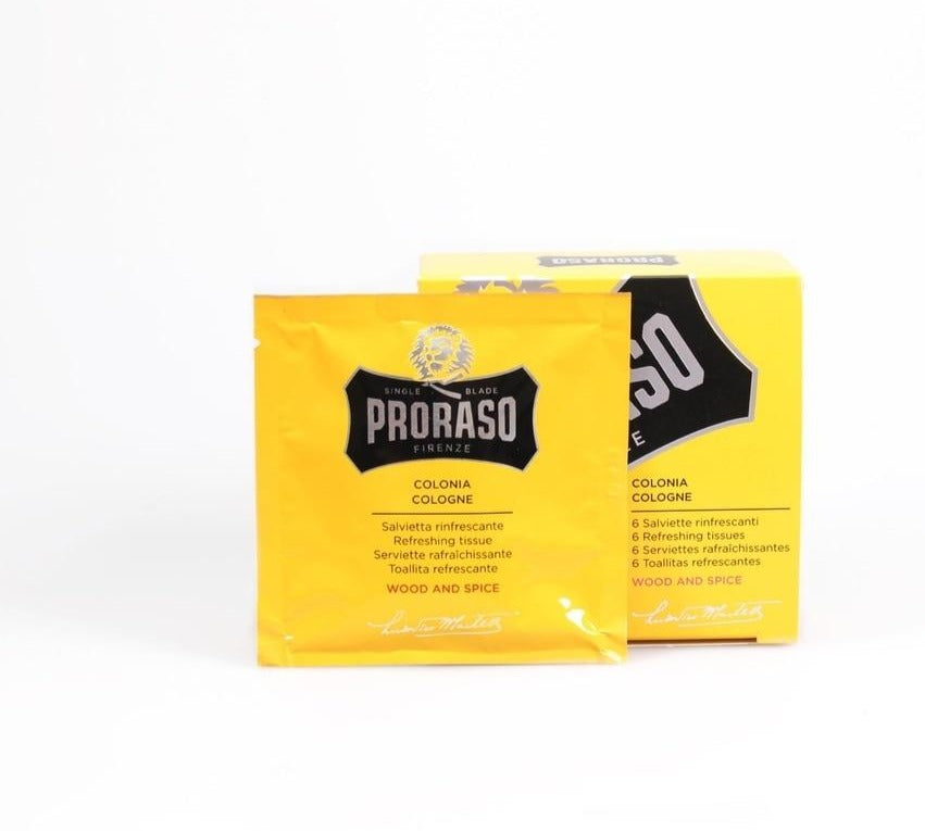 PRORASO REFRESHING COLOGNE TOWELETTES: WOOD & SPICE