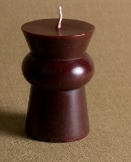 JOSEE PILLAR CANDLE  SQUAT SANGRIA