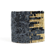 Load image into Gallery viewer, Blue And Gold Stretch Bracelet cuff