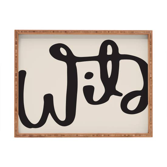 Wild Abstract Rectangular Tray