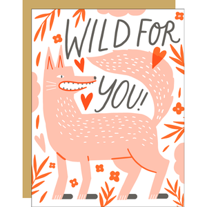Wolfie Love  Greeting Card