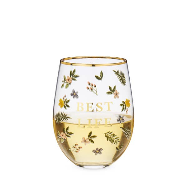 BEST LIFE Stemless Wineglass
