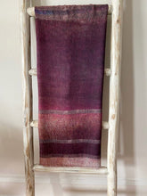Load image into Gallery viewer, Martyn Thompson Painterly Stripe Scarf  Burgundy Tones
