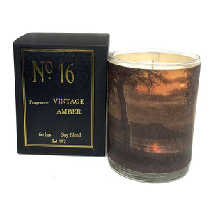 No. 16 Vintage Amber Candle