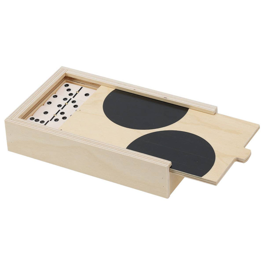 Black Dot Domino Set