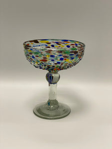 Colorful Pebbled Coupe Glass