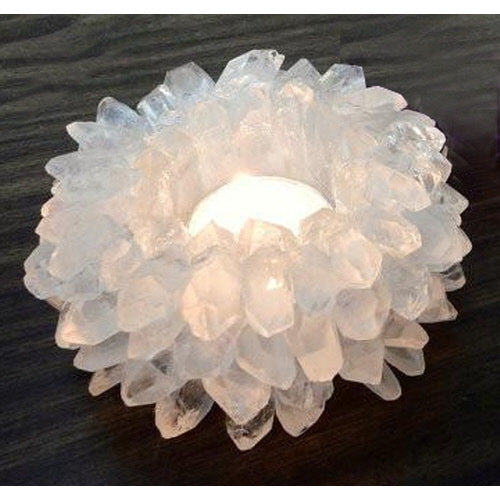CRYSTAL POINT PLANTER / CANDLE HOLDER