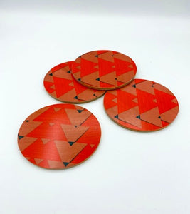 WOLFUM  ODYSSEY COASTERS, SET OF FOUR