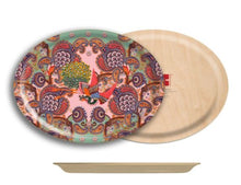 Load image into Gallery viewer, Paisley Floral Oval Tray