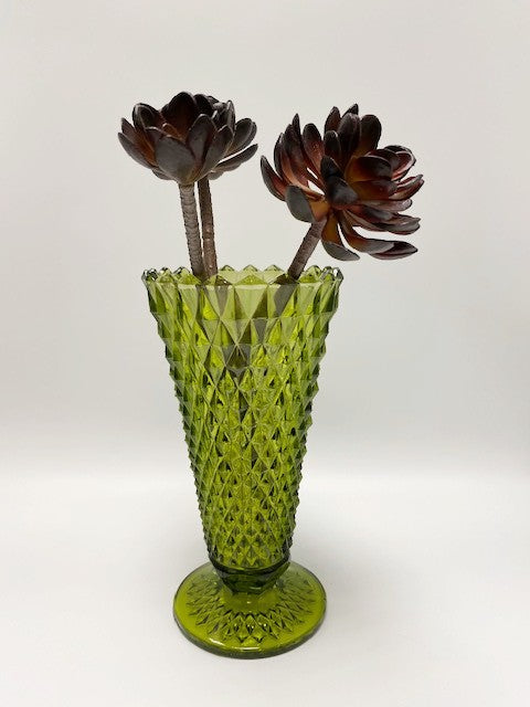 Diamond Cut Glass Vase