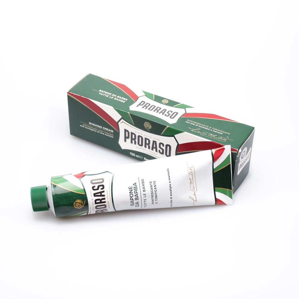 PRORASO SHAVING CREAM TUBE: REFRESHING & TONING