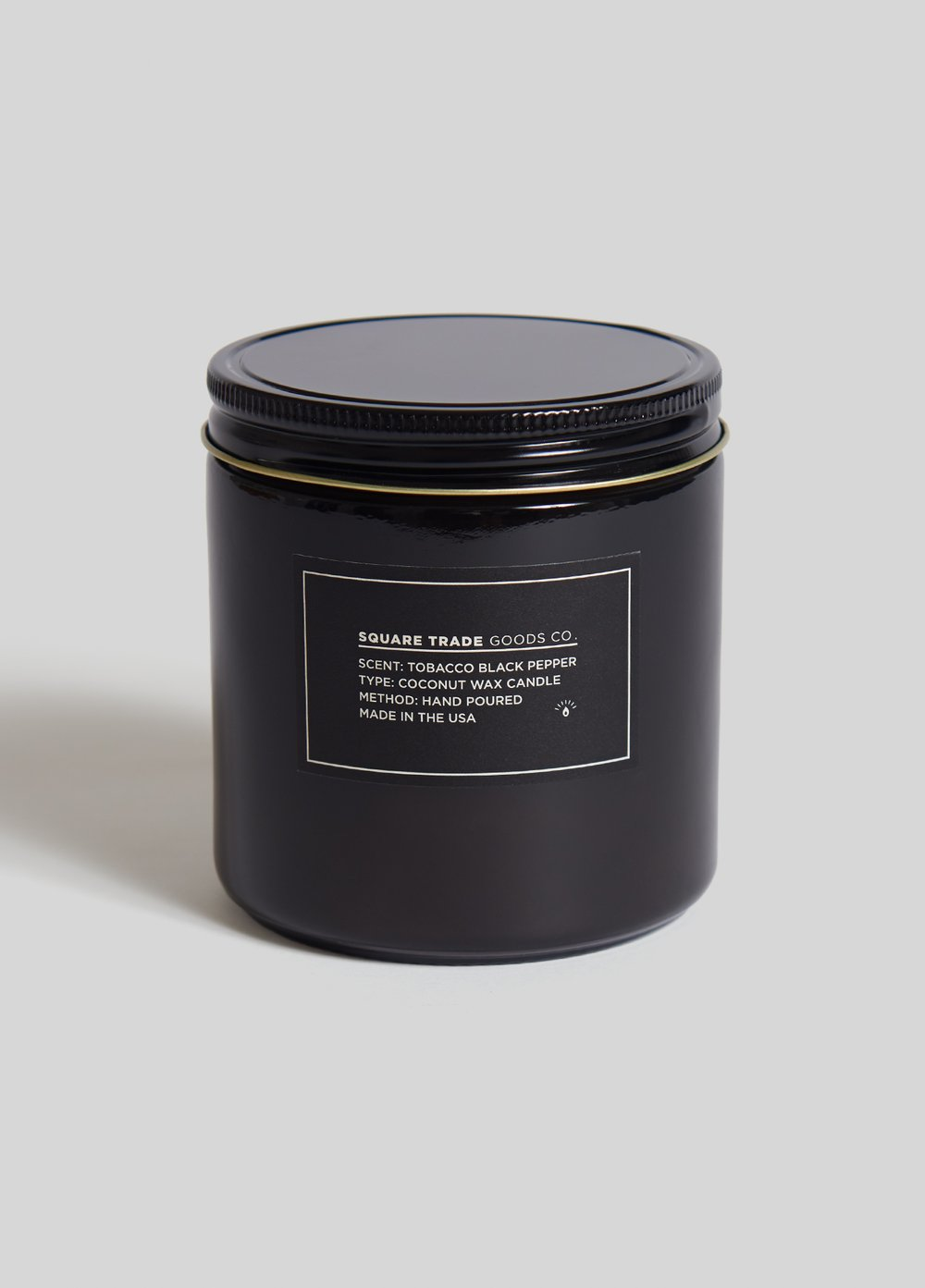 Tobacco Black Pepper Double Wick Candle