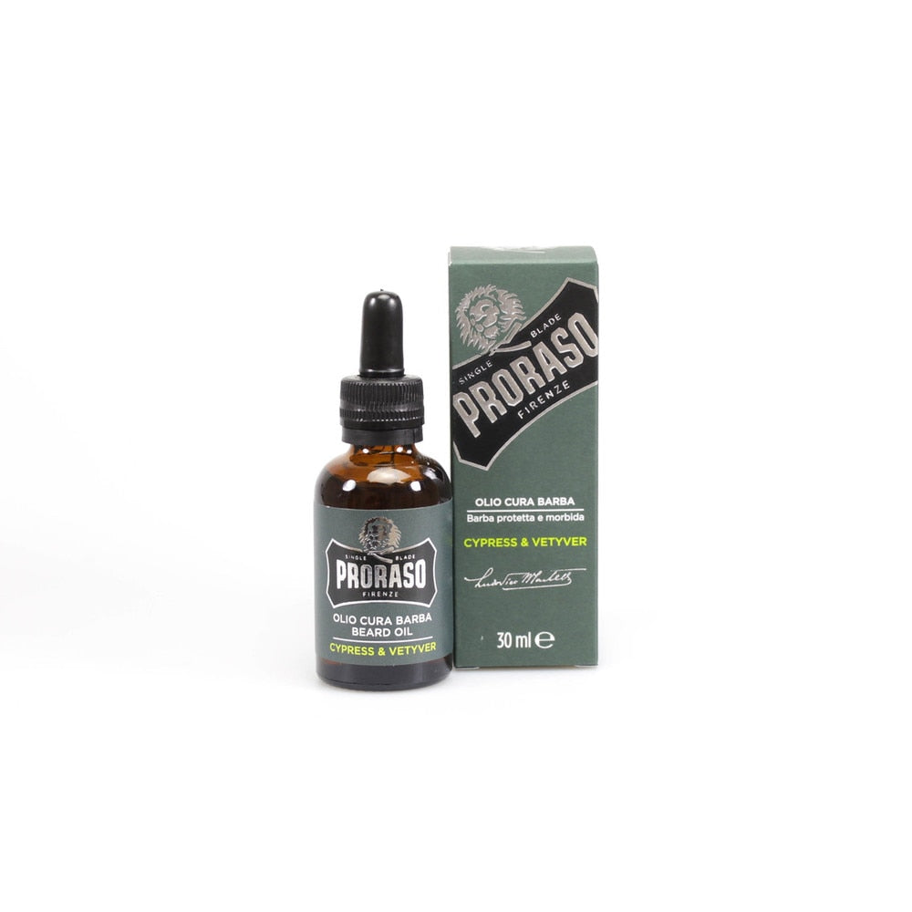 PRORASO BEARD OIL: CYPRESS & VETYVER