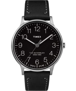 Timex Waterbury Classic Black Dial Stainless Steel Watch