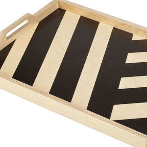 BLACK STRIPE SERVING TRAY